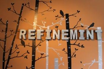 Refinemint Consignment Boutique Belford NJ wall sign