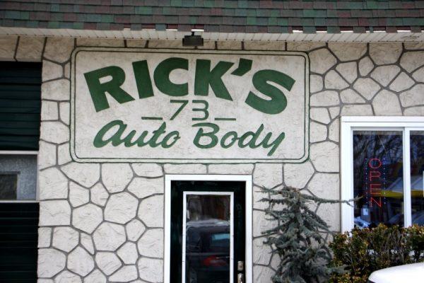 Rick's Route 73 Auto Body Shop West Berlin NJ car garage sign