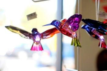 Ruth's Hallmark Shop Voorhees NJ colored glass birds