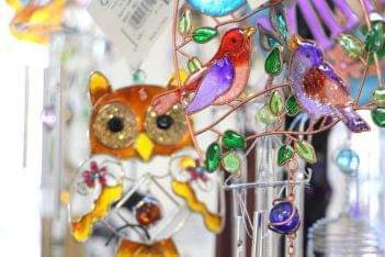 Ruth's Hallmark Shop Voorhees NJ owl birds wind chime