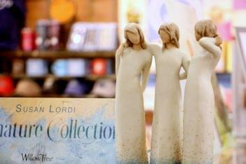 Ruth's Hallmark Shop Voorhees NJ susan lordi three sisters wood sculpture