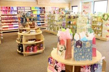Ruth's Hallmark Shop Medford NJ gift bag gift wrap floor display
