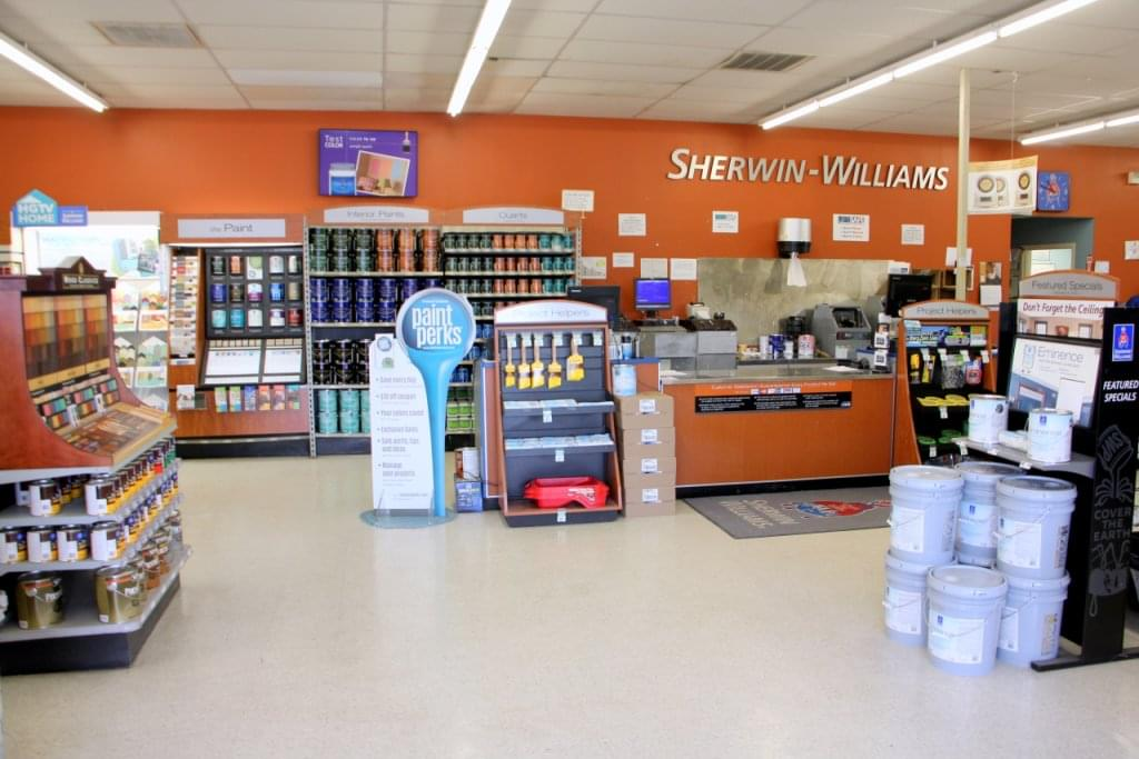 Sherwin williams paint store see inside retail store for Homedepot colorsmartbybehr com paintstore
