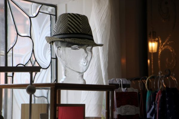 Silver Lining Mt Holly NJ glass face head display hat