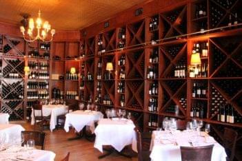 Stage Left New Brunswick NJ tables wine shelves