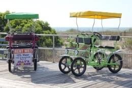 Surf Buggy Centers 12th St Ocean City NJ green purple beach pedal buggy