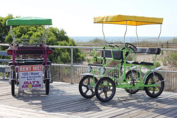 Surf Buggy Centers 12th St Ocean City NJ green purple beach pedal buggy