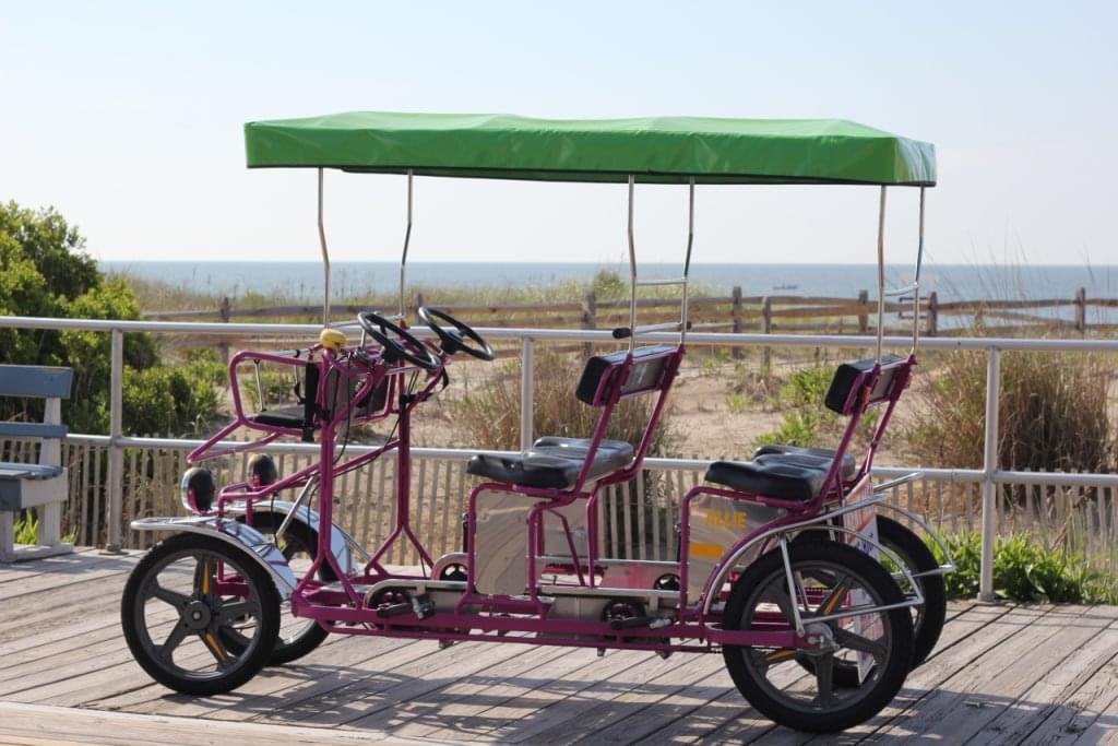 Surf Buggy Centers 12th St Ocean City NJ purple beach pedal buggy