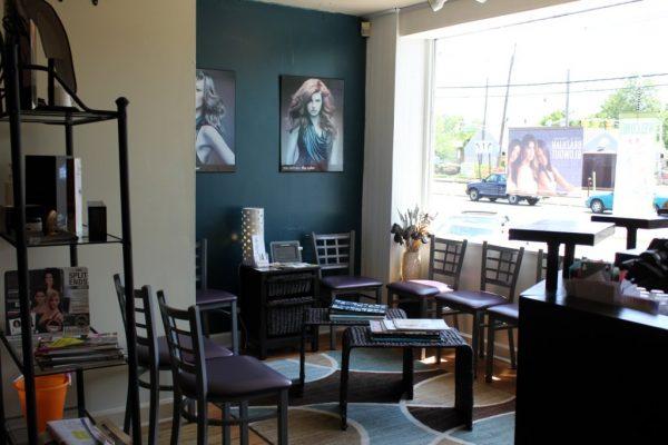 The Color Bar Hair Studio Palmyra NJ waiting room