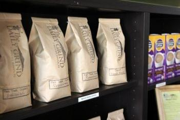 The Daily Grind Mt Holly NJ coffee bean bags