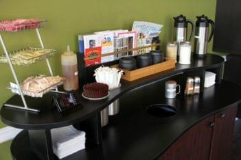 The Daily Grind Mt Holly NJ coffee fixin counter