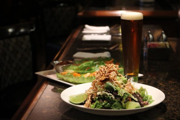 The Pub at Wegmans Collegeville PA asian salad beer