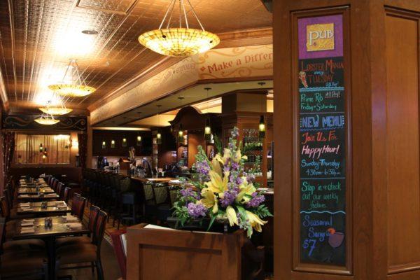 The Pub at Wegmans Collegeville PA entrance seating menu