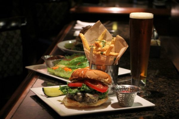 The Pub at Wegmans Collegeville PA hamburger fries beer pickle