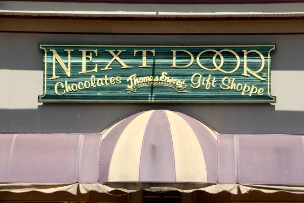 Thomas Sweet Next Door Chocolates and Gift Shoppe New Brunswick NJ sign