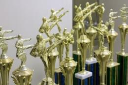 Yi's Karate of Cherry Hill NJ martial arts trophies