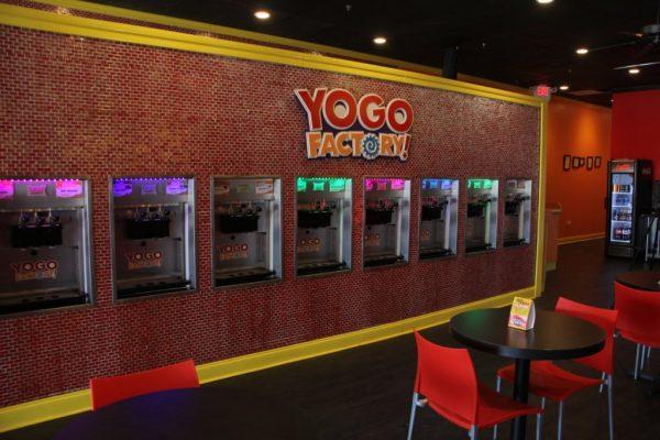 Yogo Factory Somerdale NJ frozen yogurt dispensing machines
