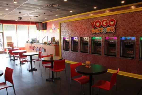 Yogo Factory Somerdale NJ frozen yogurt seating
