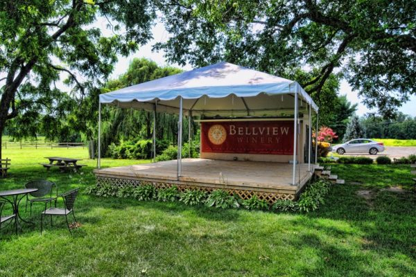 Bellview Winery Landisville NJ stage tent