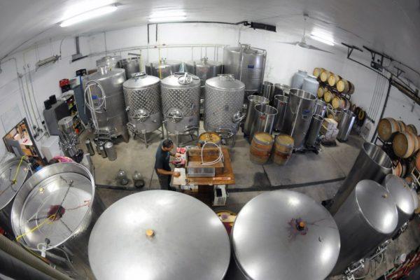 Bellview Winery Landisville NJ vats