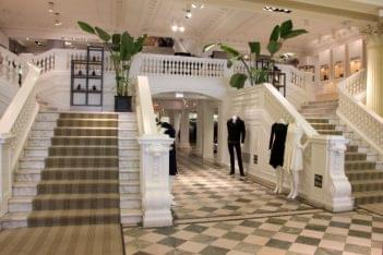 Boyds Clothing store Philadelphia PA double stairs mezzanine