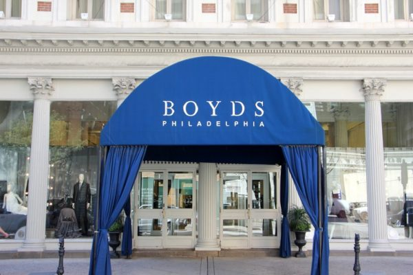 Boyds Clothing store Philadelphia PA store front