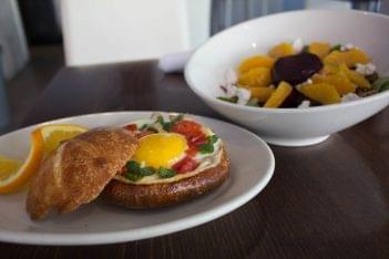 Cafe V Philadelphia PA egg sandwich salad