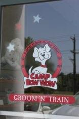Camp Bow Wow Pet Grooming Cherry Hill NJ window decal