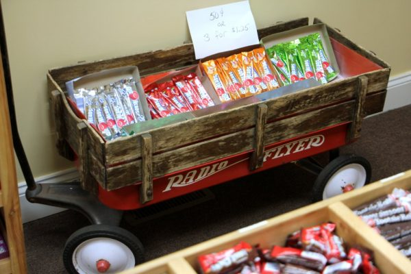 Carole's Candy Corner Penny Candies Novelty's and Gourmet Confections Haddon Heights NJ red radio flyer wagon airheads