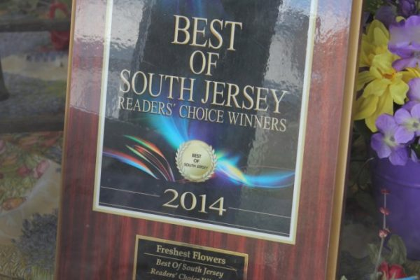 Freshest Flowers Haddon Heights NJ award