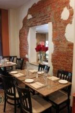 Giorgio On Pine Philadelphia PA Italian restaurant seating exposed brick