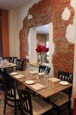Giorgio On Pine Philadelphia PA Italian restaurant seating exposed brick