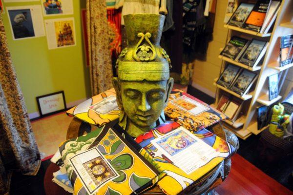 Herban Legend Smithville NJ bust head buddahist sculpture