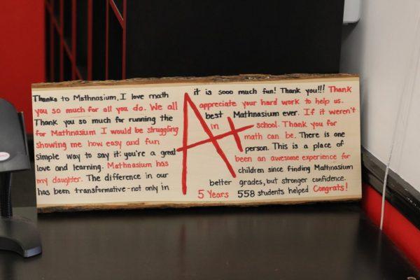 Mathnasium of Cherry Hill NJ Thank you testimony