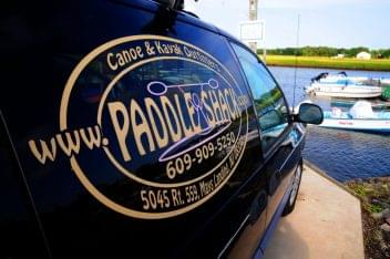 Paddle Shack Egg Harbor Township NJ van logo
