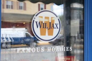 WilJax Famous Hoagies Haddon Heights NJ window sign logo