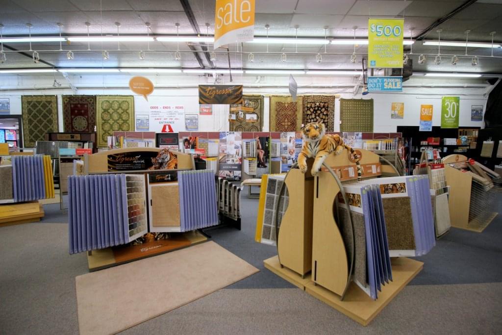 Burlington Carpet One Barrington NJ Showroom Displays