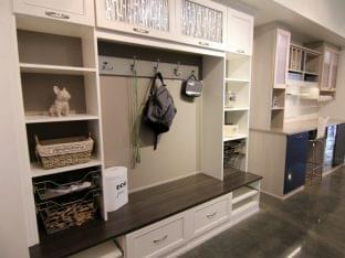 California Closets Los Altos CA interior design coat hanger craft table