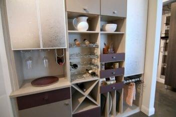 California Closets Los Altos CA interior design wine rack kitchen organization