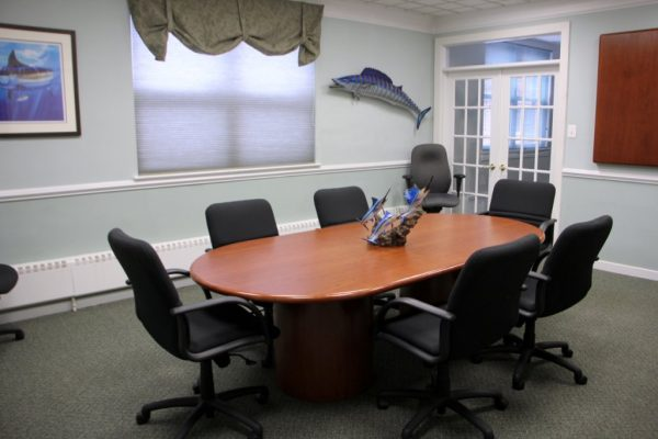 Haines & Haines T.C. Irons Insurance Agency Burlington NJ conference room table