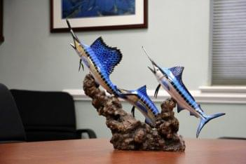 Haines & Haines T.C. Irons Insurance Agency Burlington NJ marlin fish statue