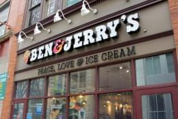 Ben & Jerry's Ice-cream shop Pittsburgh PA store front sign