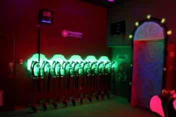 LaserZone Laser Tag Center Caguas Puerto Rico aqua blue green glow