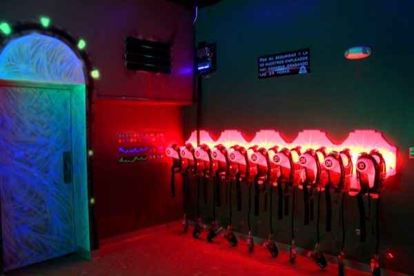 LaserZone Laser Tag Center Caguas Puerto Rico‎ red glow