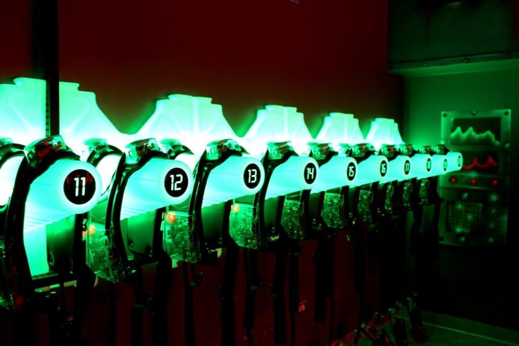 LaserZone Laser Tag Center Caguas Puerto Rico glowing