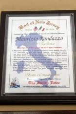 Maurizio Itailian Bistro Moorestown NJ award