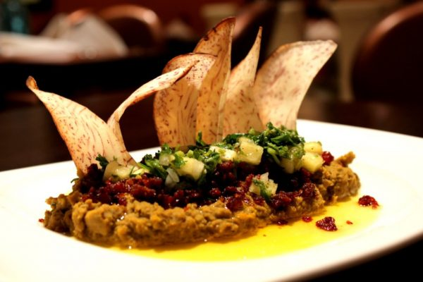Patria Cuisine Puerto Rican Restaurant San Juan Puerto Rico potato chip dish