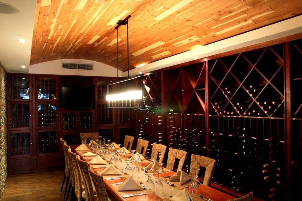 Restaurante Moriviví Cagaus Puerto Rico Caribbean Restaurant wine cellar dining table & Restaurante Moriviví Cagaus Puerto Rico Caribbean Restaurant wine ...