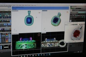 Haddonfield Jewelers in Haddonfield, NJ. 3D imaging 3D model ring design stone setting