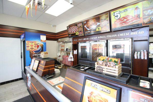 Little Caesars Pizza in Sicklerville, NJ order counter
